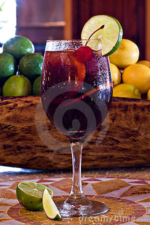 Free Glass Of Sangria Royalty Free Stock Photos - 8038588