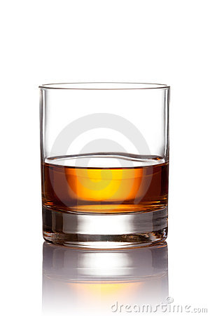 Free Glass Of Scotch Whiskey Royalty Free Stock Image - 12836206