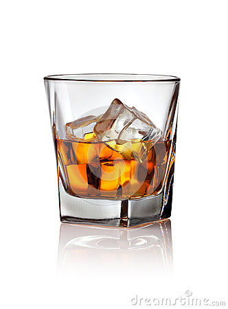 Free Glass Of Scotch Whiskey And Ice Stock Photos - 40464723