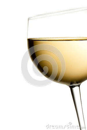Free Glass Of White Wine Tilted With Space For Text Royalty Free Stock Photos - 32250418