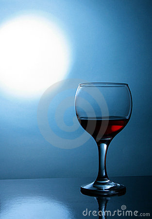 Free Glass Of Wine And Moon Royalty Free Stock Photos - 4116028