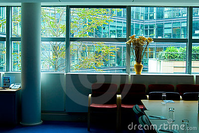 Glass office view