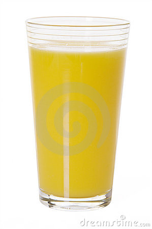 Glass Of Orange Juice Isolated
