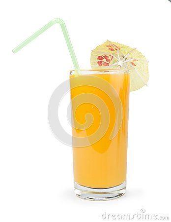 Glass with Peaches juice