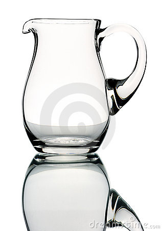 Glass pitcher, isolated
