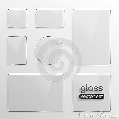 Free Glass Plates Set Royalty Free Stock Photo - 42391605