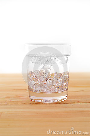 Glass of pure ice water