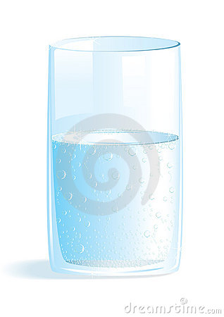 A glass with pure water