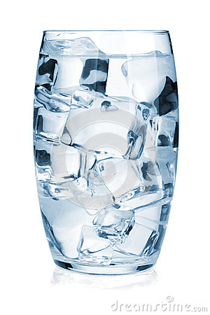 Glass Of Pure Water With Ice Royalty Free Stock Photo - Image ...