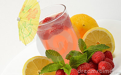 Glass of Raspberry Lemonade