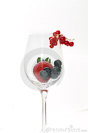 Glass With Red Fruits