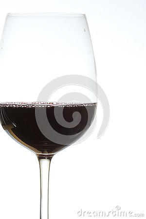 Glass of red wine on Stock Photo