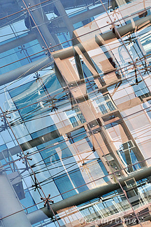 Glass reflection abstract image on modern building