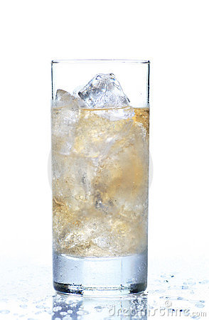 Glass of refreshing ginger ale