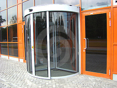 Glass revolved door
