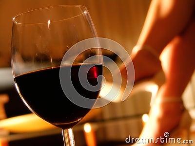Glass romantisk wine för afton