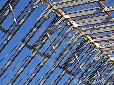 Glass roof construction
