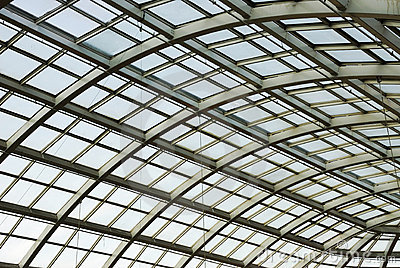 Glass roof structure in west edmonton mall