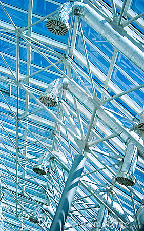 Glass roof ventilation tubing