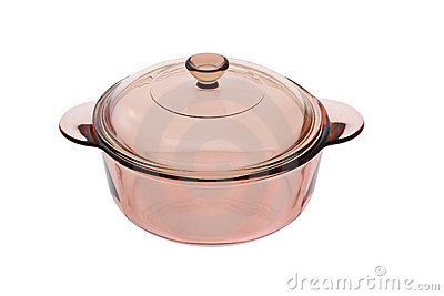Glass saucepan with lid