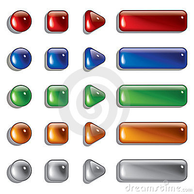 Free Glass Shapes, Button Stock Image - 17038251