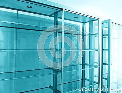 Glass shelf, empty