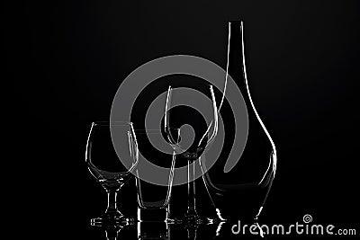 Glass silhouette