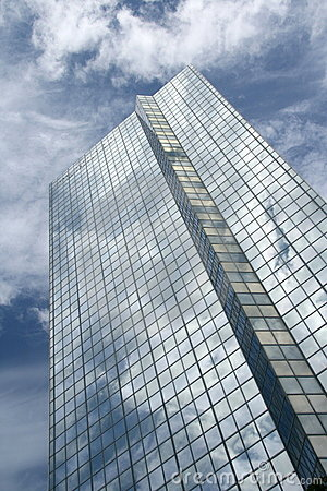Glass skyscraper