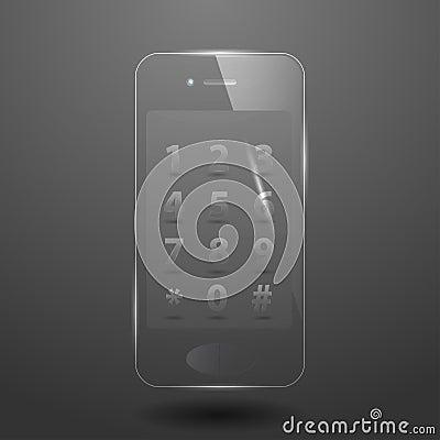 Glass smart phone