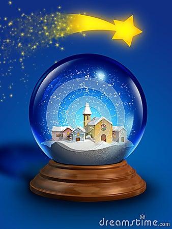 Glass snow ball
