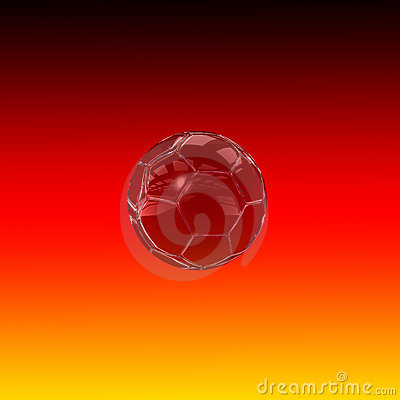 Glass Soccer Ball - Tribute to Germany