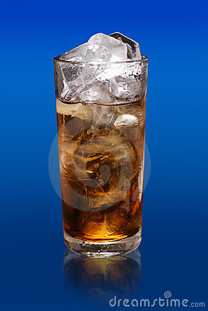 Glass soft drink