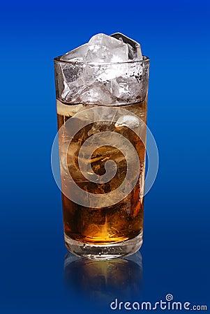 Glass soft drink