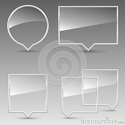 Glass Speech Bubbles