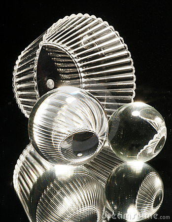 Glass Spheres with Bowl