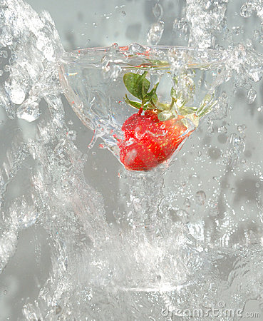 Glass and strawberry 2