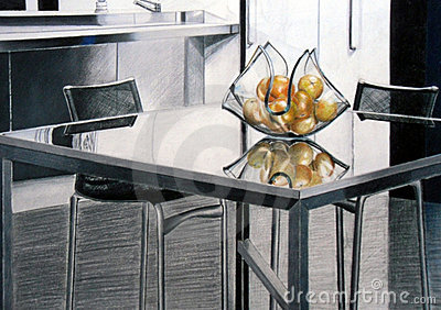 Glass table drawing 2