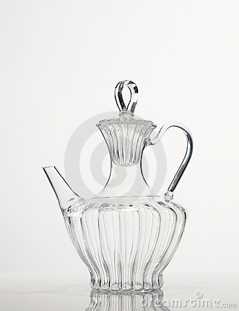Glass tea carafe