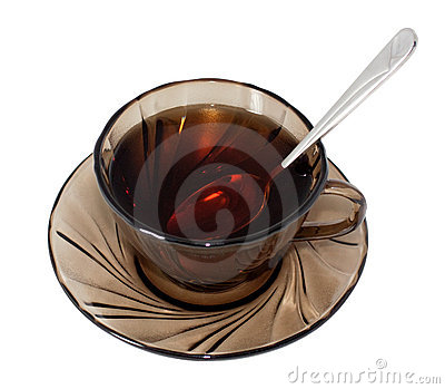 Glass of Tea with spoon
