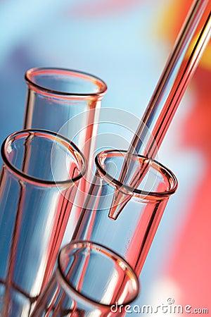 Glass test tubes