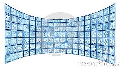 Glass tile widescreen