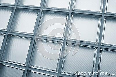 Glass tiled wall