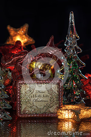 Glass Tree Holiday Background
