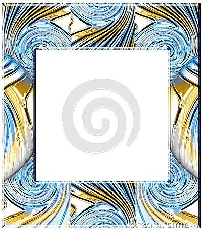 Glass twirls frame