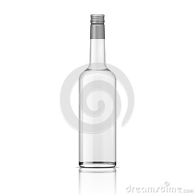 Free Glass Vodka Bottle With Screw Cap. Royalty Free Stock Photography - 34438567