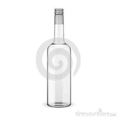 Free Glass Vodka Bottle With Screw Cap. Stock Photography - 34680442
