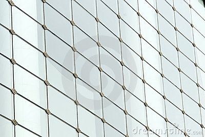 Glass wall in a modern building