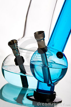 Free Glass Water Bongs Over White Royalty Free Stock Photos - 12720728