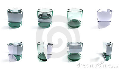 Glass of water concepts