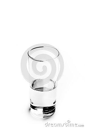 Glass of water. Half full.